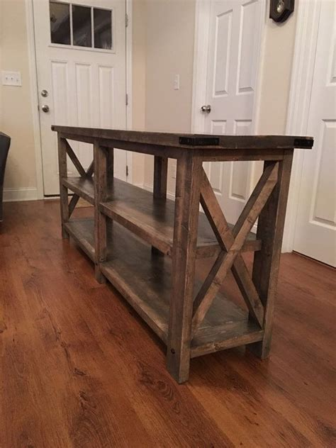rustic style sofaentry  table  laceyswoodworking