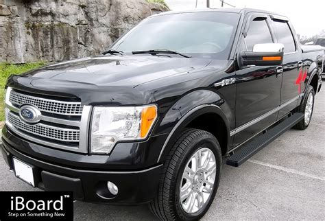 ford fit premium 4 quot black iboard running boards fit 09 14 ford f