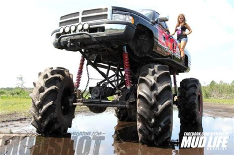 dodge mud truck macy gilliam s badass dodge daddy s money mud life