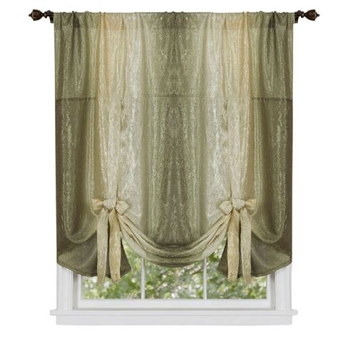 tie up curtain shade achim sage ombre tie up shade curtain 50 in w x 63 in