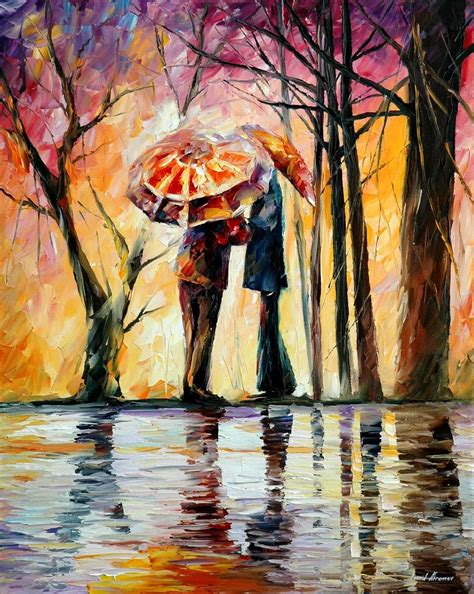 Painting Date by Rainy Date Palette Knife Painting On Canvas By