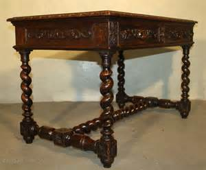 Antique Library Table by Heavily Carved Oak Library Table Desk Antiques