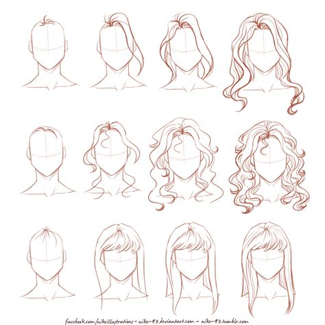 medium length hairstyle sketches how i draw long hair by nike 93 deviantart com on