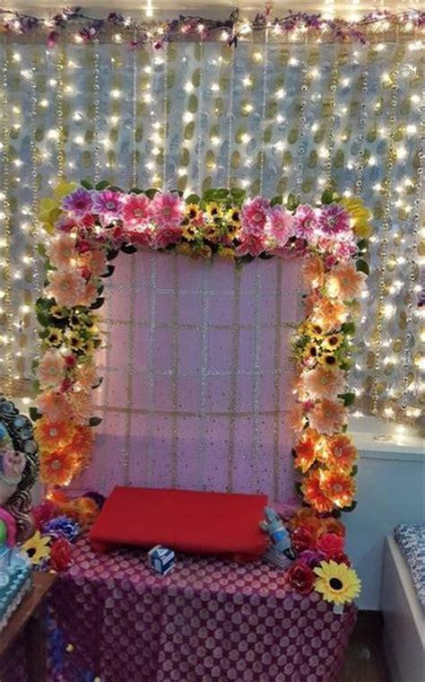 ganesh decoration  flower  pinterest