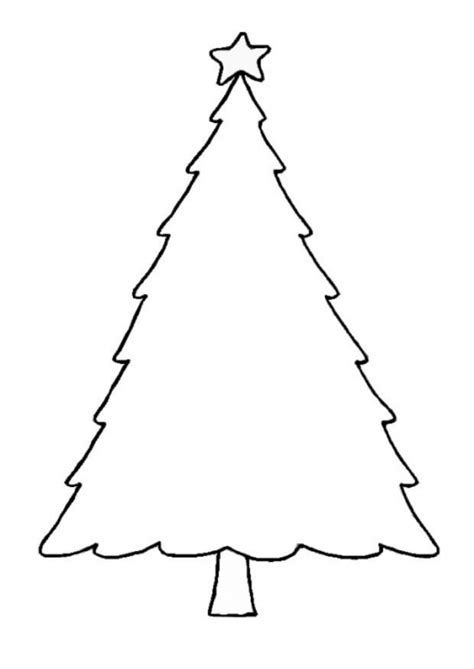 printable xmas tree christmas tree coloring pages