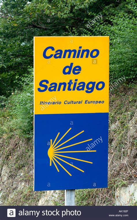 camino de santiago pilgrimage route sign for the camino de santiago way of st