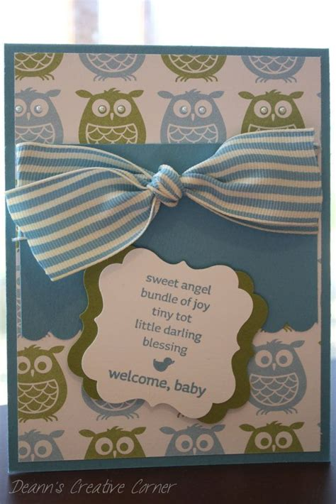 Welcome Handmade Cards - welcome baby handmade card stin up projects to try