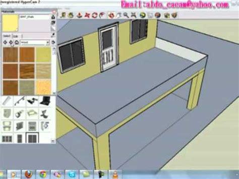 tutorial menggambar rumah dengan sketchup cara menggambar sebuah rumah dengan sketchup 8 youtube