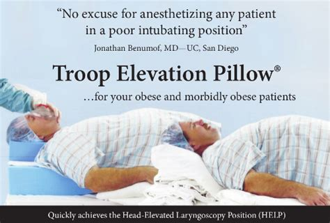 Elevation Pillow by Troop Elevation Pillow Difficult Airway Society