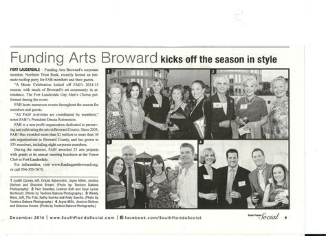 society section newspaper fab in the news funding arts broward