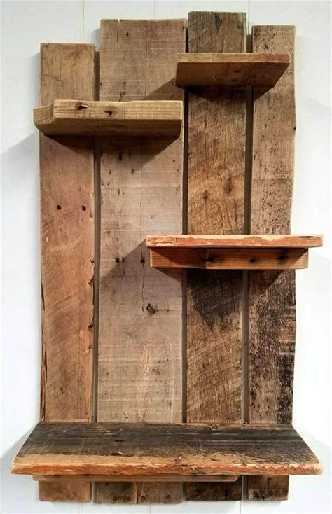 shelves out of pallets pallet shelf for wall decoration pallets pro