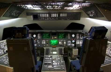 file space shuttle cockpit at the hong kong space museum