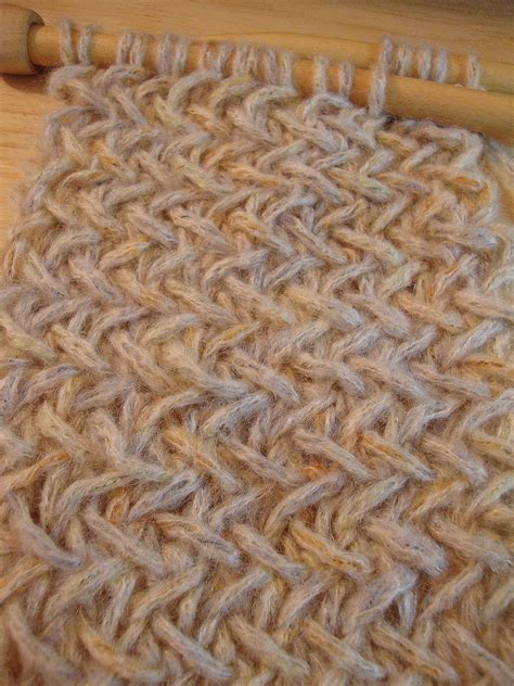 knit one room on the left herringbone stitch and the one i can t