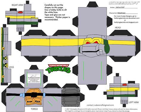 Tmnt Papercraft - tmnt10 metalhead cubee by theflyingdachshund on deviantart