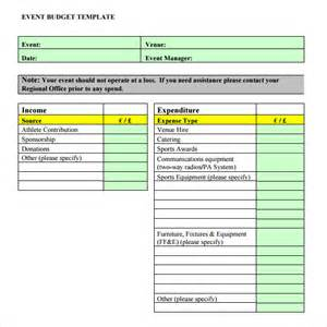 Sample Excel Budget Template Sample Event Budget 8 Documents In Pdf Word Excel