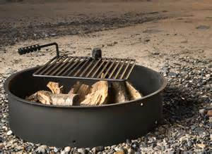 steel pit ring with grill 36 quot steel ring with cooking grate cfire pit park