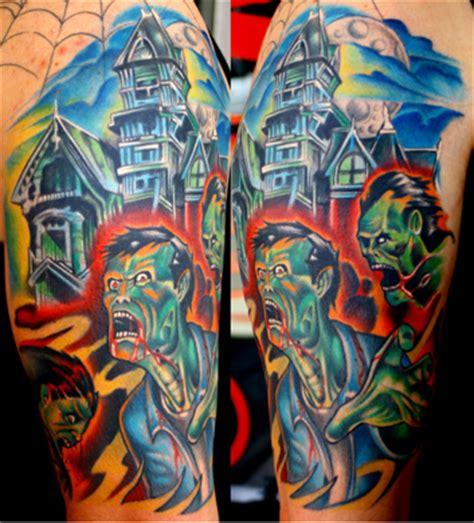 cartoon tattoo artist california zombie tattoos