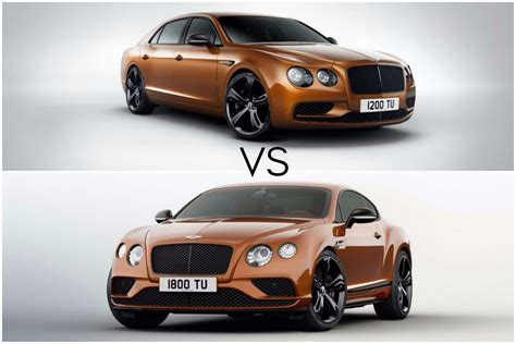 bentley flying spur bentley continental gt vs bentley flying spur carwitter