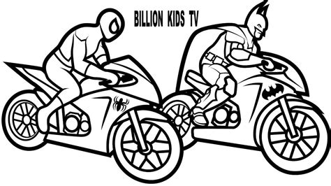 superhero cars coloring pages spiderman and batman coloring book pages kids fun