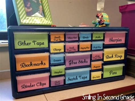 Desk Supplies Organizer School Pinterest Classroom Desk Organization Ideas