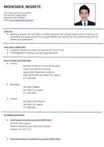 Formal Resume Template Cv Format Resume Format