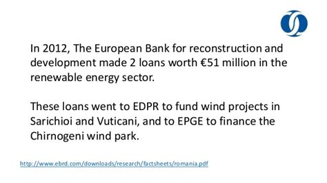 european bank for reconstruction and development romania