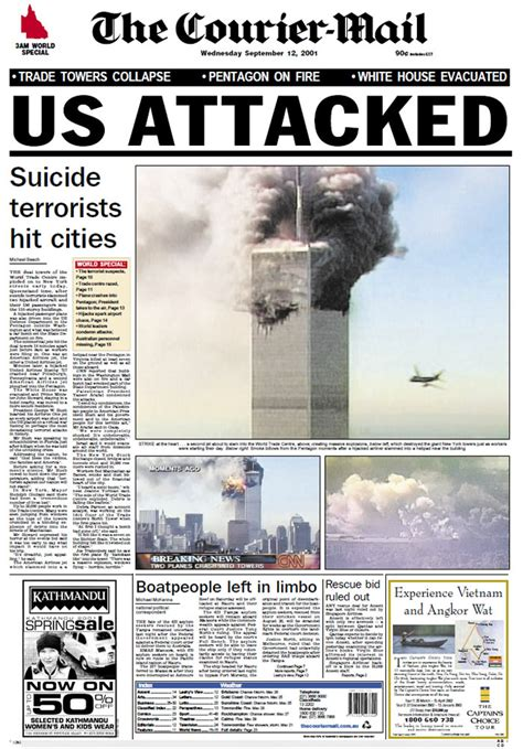 Free Photo Newspaper Front Page Free Image On Pixabay 433597 September 11 Newspaper Front Pages From The Following Day Abc News Australian Broadcasting