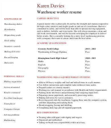 general warehouse job resume sidemcicek com