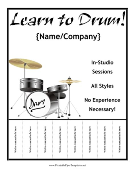drum tutorial free download drum lesson flyer