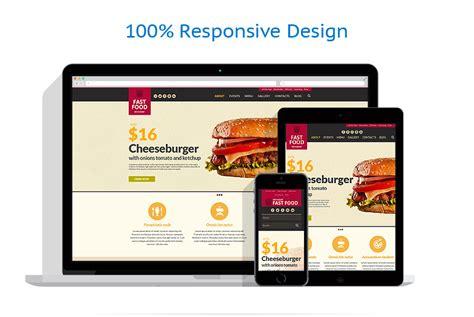 responsive layout animation template siti web per un sito di ristorante fast food