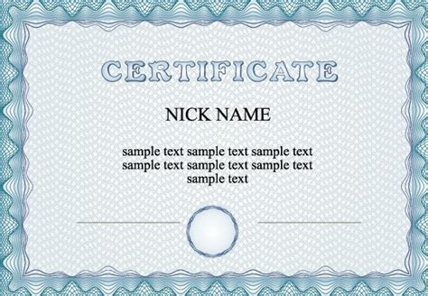free vector certificate templates 10 best images of plain certificate templates