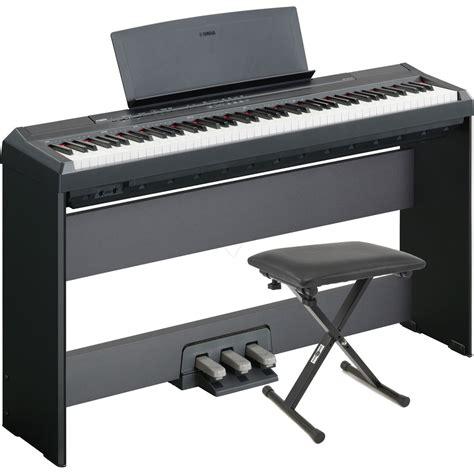 yamaha bench disc yamaha p105 digital piano black w stand pedal