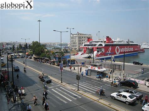 il porto di atene foto atene porto pireo globopix