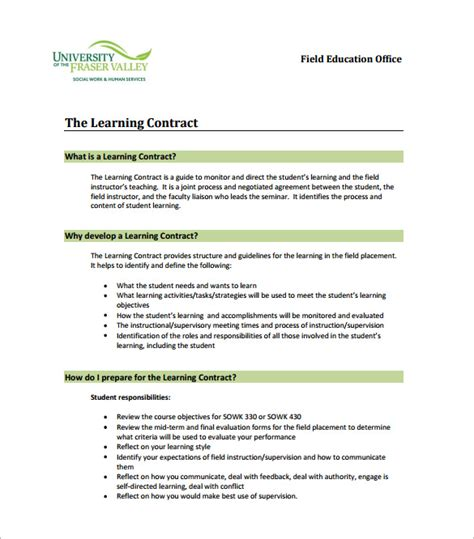 Student Contract Template by Agreement Contract Artist Contract 9