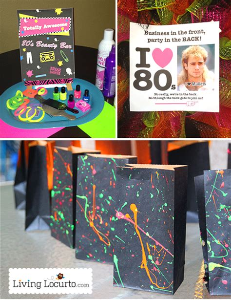 80s theme ideas decorations awesome 80 s birthday ideas 1980 s printables