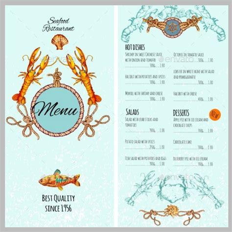 20 Printable Cards Design Trends Premium Psd Vector Downloads Seafood Menu Template