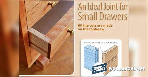 drawer joints woodarchivist