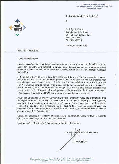 Présentation Lettre Officielle En Anglais Le Wanted D Herv 233 Gi 233 Ly Pr 233 Sident De Sitom Sud Gard