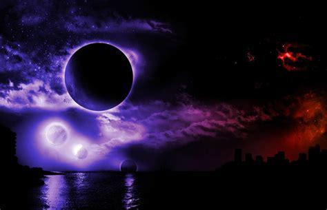 imagenes de noche wallpaper fondo pantalla fantasia planetas noche