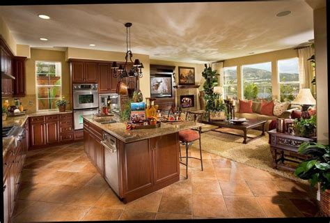 open plan kitchen dining room living room open floor plan home design