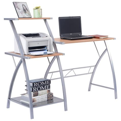 W 3 Tier Shelf Computer Laptop Writing Study Desk Table Laptop Shelf For Desk