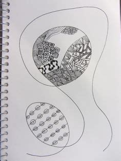 Zen Sea Floating In A Zen Zentangle Zendoodle