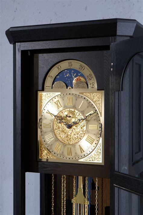 Handmade Grandfather Clock - german grandfather clock rheine solid oak black laquered