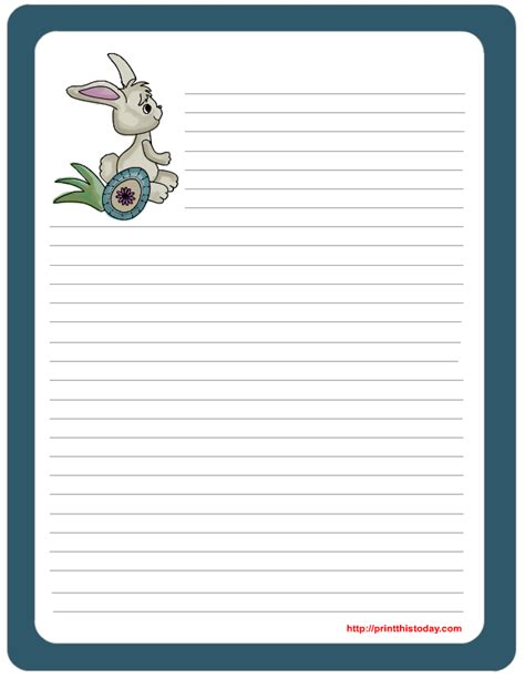 stationery templates for pages free printable easter stationery
