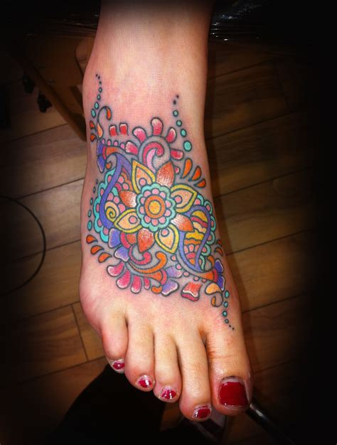 henna foot tattoo henna style foot by jade tattoos