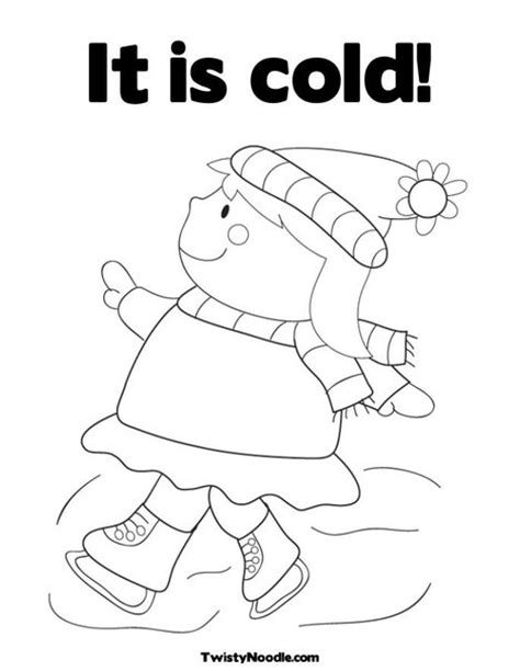 cold weather coloring pages