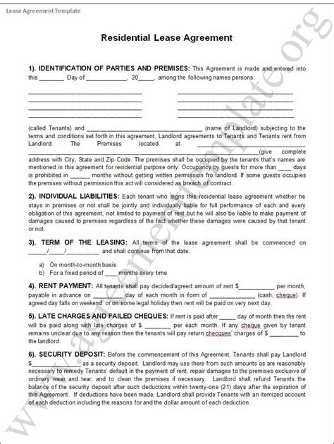 rental agreement template free best photos of template of rental agreement free rental