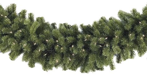Outdoor Pre Lit Garland - lighted garland sequoia fir prelit commercial