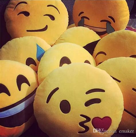 Lovely Qq Condy 2 15 styles lovely emoji smiley pillows qq expression cushion pillows yellow