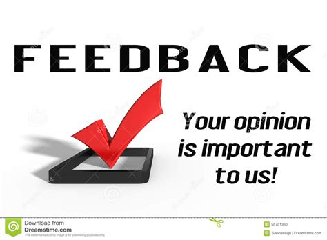 Your Is feedback stock photo image 55701360